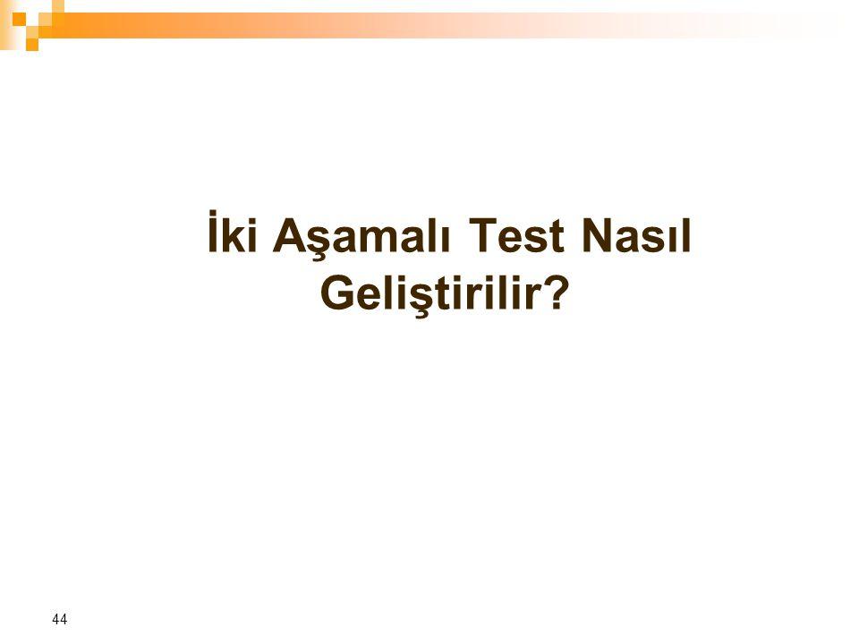 İki Aşamalı Test Nasıl Geliştirilir? 44