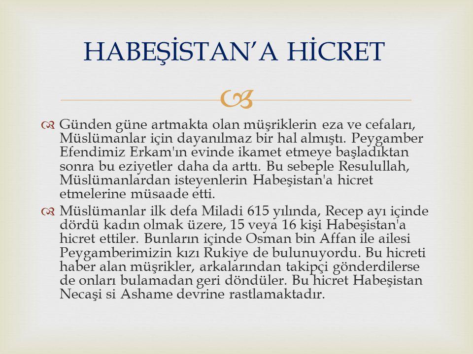   Birinci Habeşistan hicretinden sonra Hz.Muhammed (SAV) e Necm suresi indirildi.