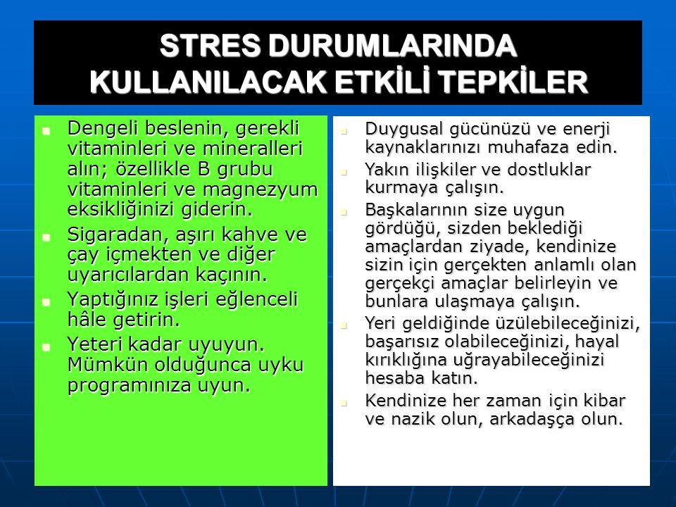 Strese karşı gösterdiğiniz fiziksel tepkilerinizi makul hâle getirmeyi öğrenin. Strese karşı gösterdiğiniz fiziksel tepkilerinizi makul hâle getirmeyi