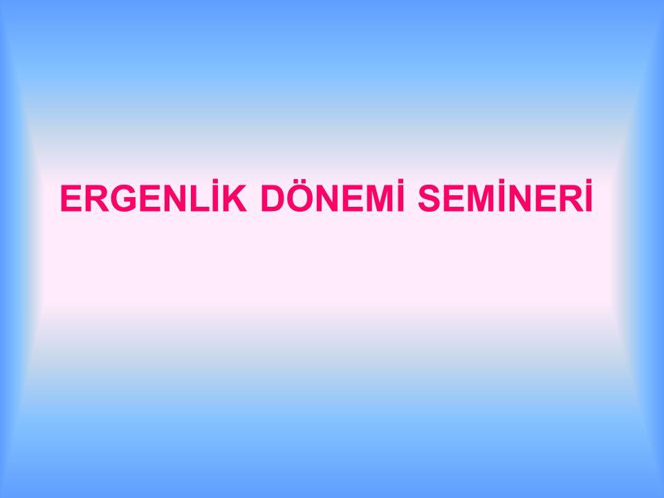 ERGENLİK DÖNEMİ SEMİNERİ