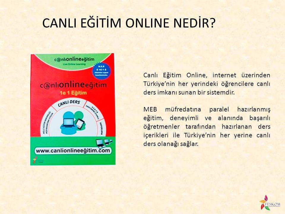 Canlı Eğitim Online, internet üzerinden Türkiye'nin her yerindeki öğrencilere canlı ders imkanı sunan bir sistemdir. MEB müfredatına paralel hazırlanm