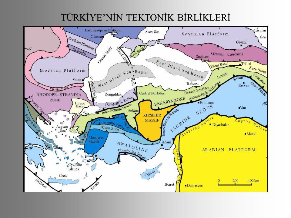 TÜRKİYE'NİN TEKTONİK BİRLİKLERİ