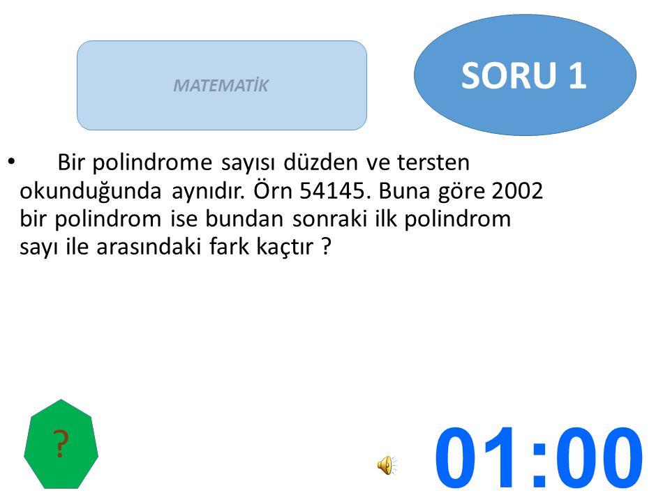 Bir polindrome sayısı düzden ve tersten okunduğunda aynıdır. Örn 54145. Buna göre 2002 bir polindrom ise bundan sonraki ilk polindrom sayı ile arasınd
