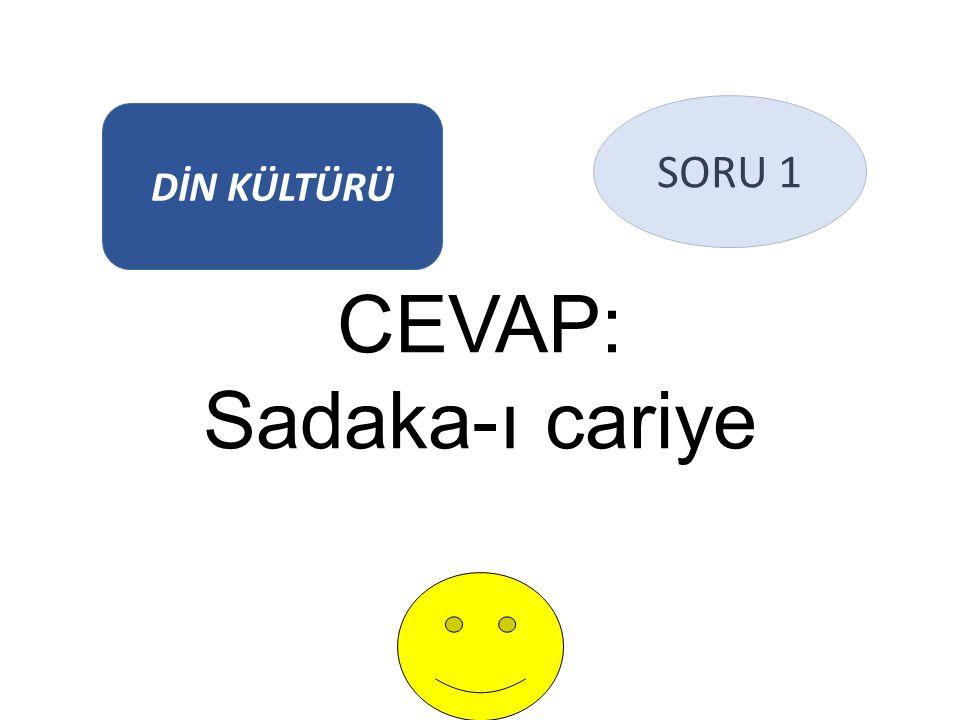 CEVAP: Sadaka-ı cariye DİN KÜLTÜRÜ SORU 1