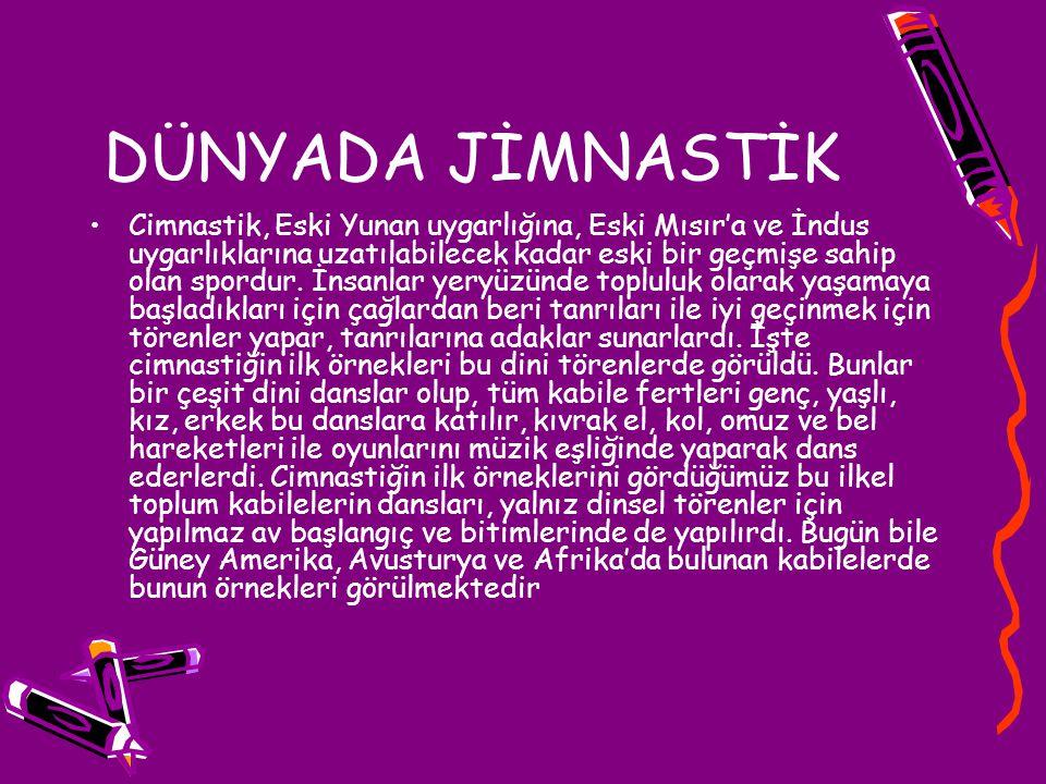 KAYNAKÇALAR: bloglater.blogcu.com/jimnastigin-turkiyede-gelisimi www.sporakademisi.com/branslar/.../cimnastik-turkiye-gelisimi.doc www.cimnastikegitimi.com/2010/11/cimnastigin-tarihi/ www.olimpikakademi.com.tr/index.asp?sayfa=47