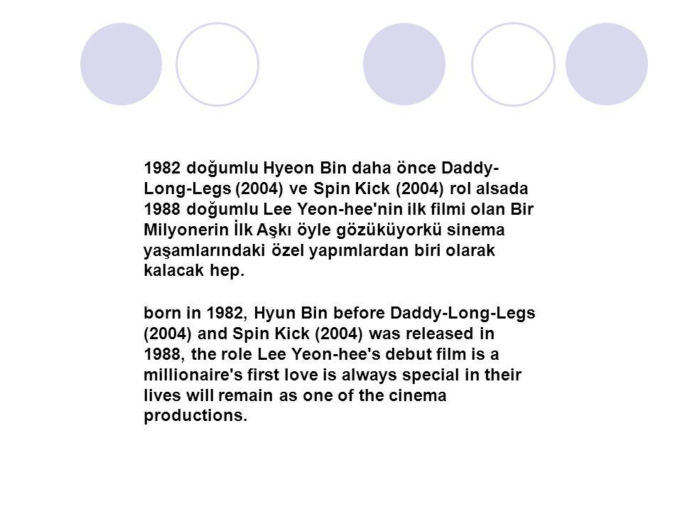1982 doğumlu Hyeon Bin daha önce Daddy- Long-Legs (2004) ve Spin Kick (2004) rol alsada 1988 doğumlu Lee Yeon-hee nin ilk filmi olan Bir Milyonerin İlk Aşkı öyle gözüküyorkü sinema yaşamlarındaki özel yapımlardan biri olarak kalacak hep.