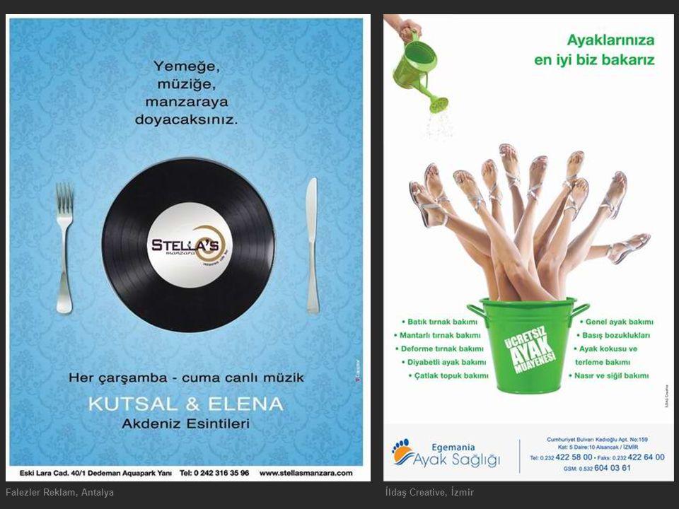 Falezler Reklam, Antalyaİldaş Creative, İzmir