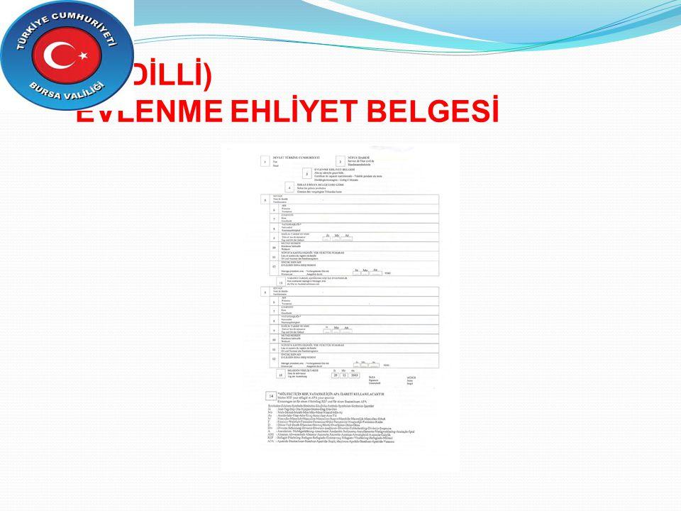 (ÇOK DİLLİ) EVLENME EHLİYET BELGESİ