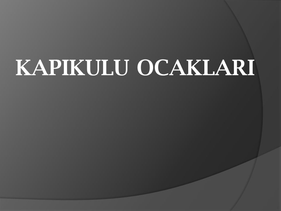  Osmanlı Devleti nin sürekli ordusunu olu ş turan ve do ğ rudan padi ş aha ba ğ lı olan yaya, atlı ve teknik sınıftan asker ocaklarına verilen addır.