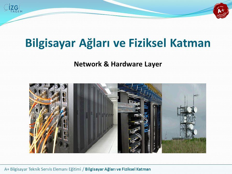 A+ Bilgisayar Teknik Servis Elemanı Eğitimi / Bilgisayar Ağları ve Fiziksel Katman Bilgisayar Ağları ve Fiziksel Katman Network & Hardware Layer