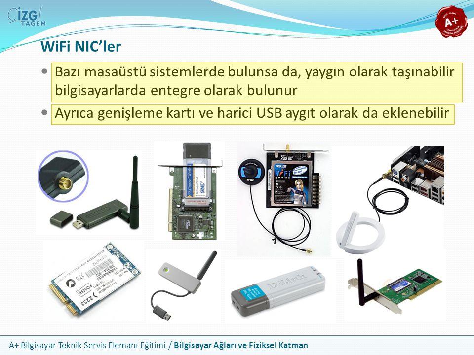 A+ Bilgisayar Teknik Servis Elemanı Eğitimi / Bilgisayar Ağları ve Fiziksel Katman Bazı masaüstü sistemlerde bulunsa da, yaygın olarak taşınabilir bil