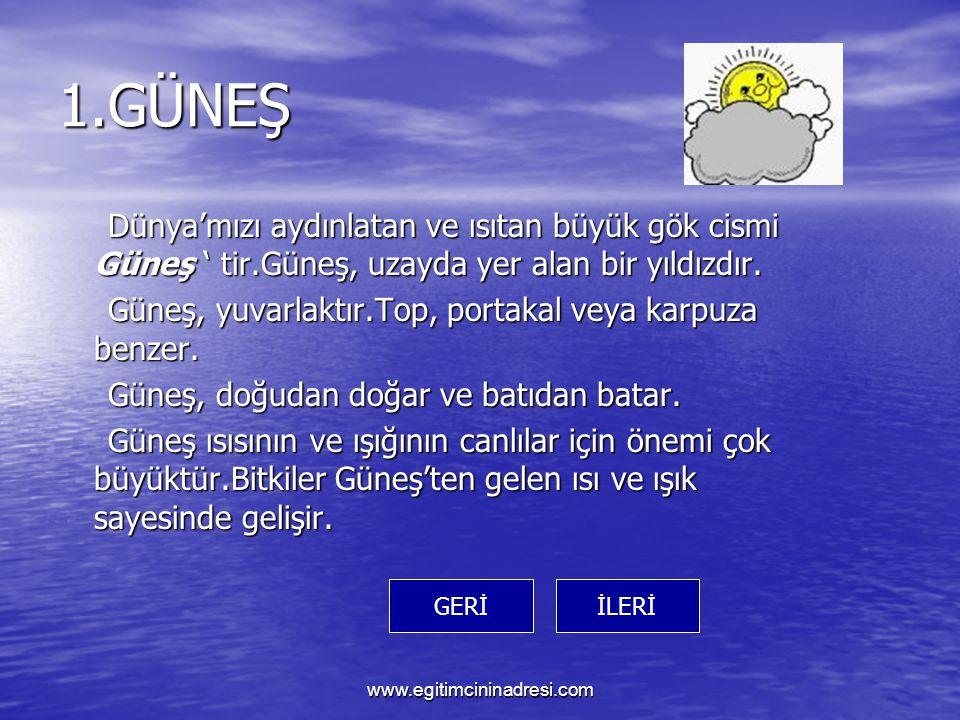 Değerlendirme Soruları www.egitimcininadresi.com