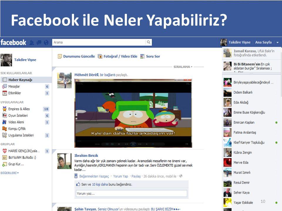 Facebook ile Neler Yapabiliriz? 10