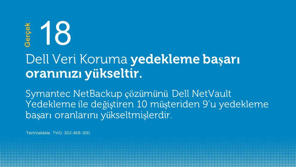 Dell Veri Koruma yedekleme ba ş ar ı oran ı n ı z ı y ü kseltir.