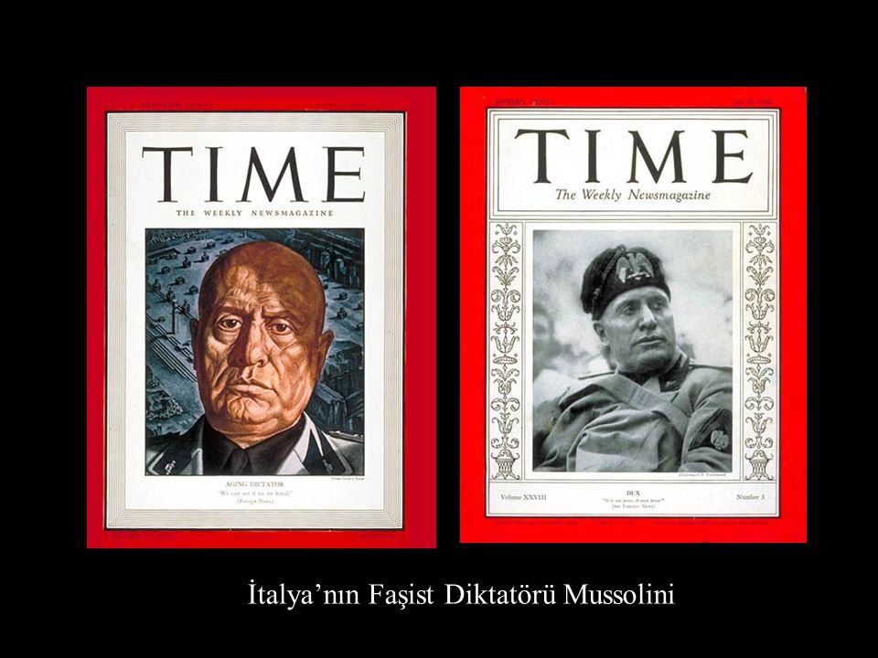 İtalya'nın Faşist Diktatörü Mussolini