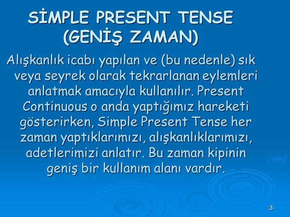 2 Merhaba! Benim adım, Simple Present Tense. Benim bir çok kullanım alanım var. Şimdi biraz kendimden bahsedeyim