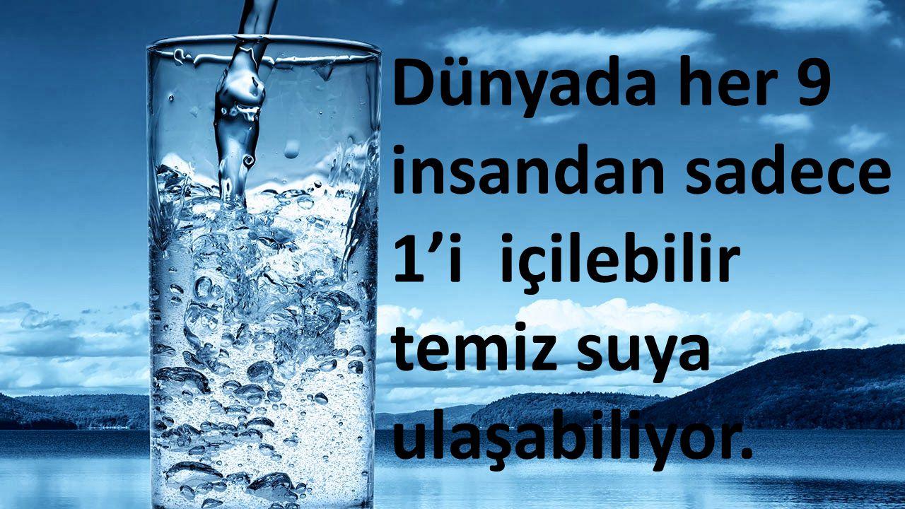 Dünyada her 9 insandan sadece 1'i içilebilir temiz suya ulaşabiliyor.