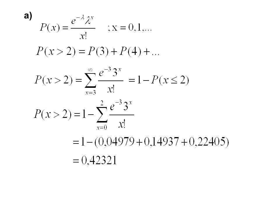 b) En çok 3 çağrı gelmesi olasılığı nedir?