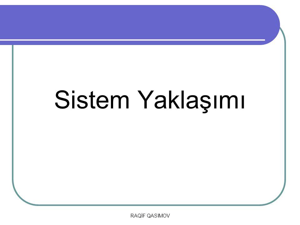 RAQİF QASIMOV Sistem Yaklaşımı