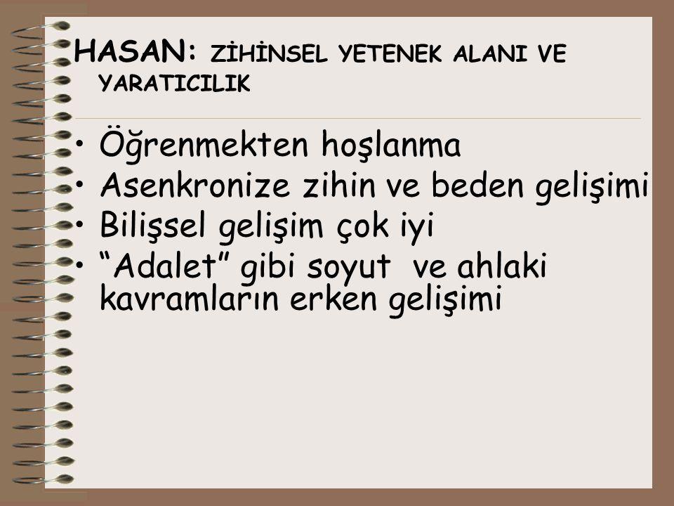 Acaba… Bu çocuklardan hangisi/hangileri özel yetenekliydi? ( ) Hasan ( ) Mehmet( ) Fatma ( ) Fatma ( ) Burcu ( ) Ekin