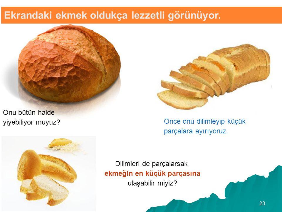 Ekrandaki ekmek oldukça lezzetli görünüyor.Onu bütün halde yiyebiliyor muyuz.
