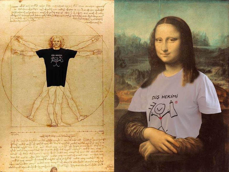tişörtler tasarlarmış.