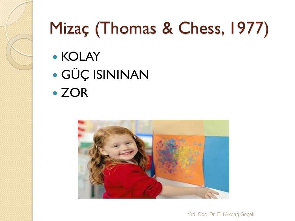 Mizaç (Thomas & Chess, 1977) KOLAY GÜÇ ISININAN ZOR Yrd. Doç. Dr. Elif Akda ğ Göçek
