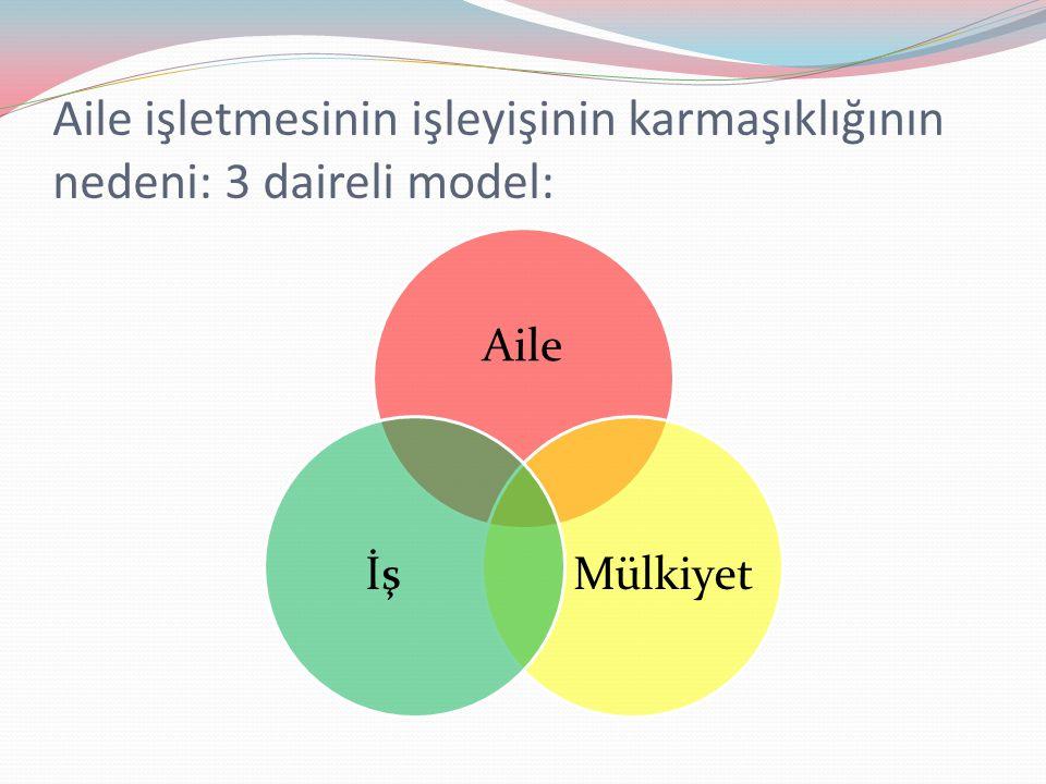İş Gelişimi Aile Gelişimi Mülkiyet Gelişimi Olgunluk (3) Büyüme ve Formalleşme (2) Başlangıç (1) Genç İş Ailesi (1) Konsorsiyum (3) Kardeş Ortaklığı (2) Bayrağı Devreden Aile (4) İşe Başlayan Aile (2) Birlikte Çalışan Aile (3) Kurucu Hakimiyeti (1)