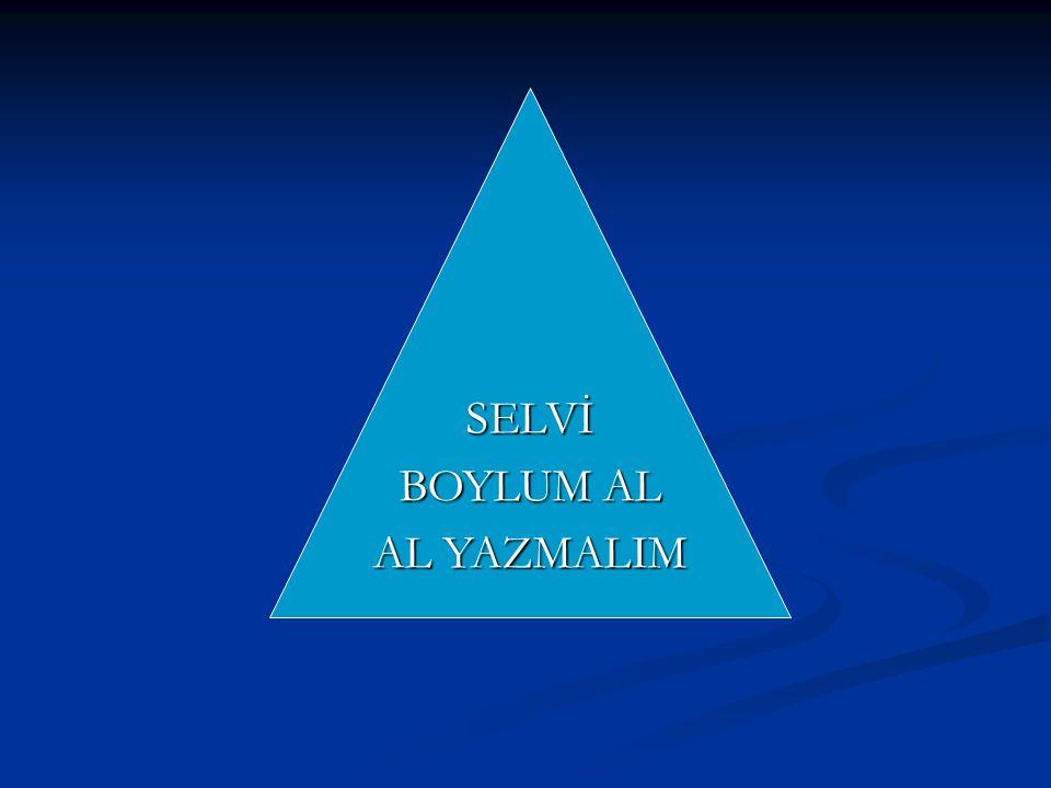SELVİ BOYLUM AL AL YAZMALIM