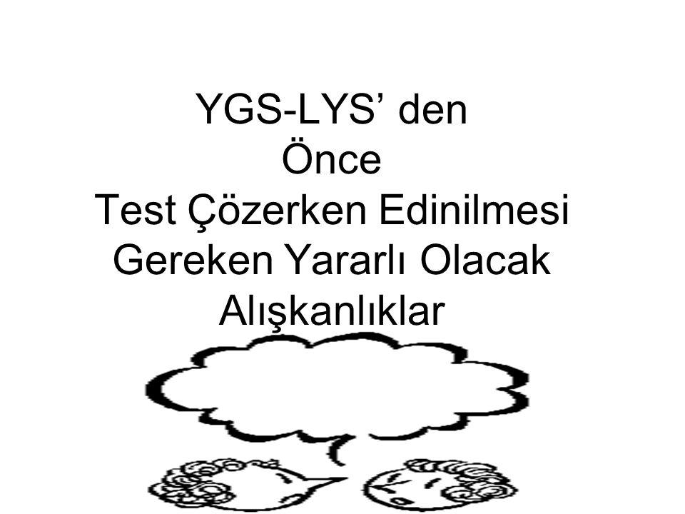 TEŞEKKÜR Derslere göre soru örneklerinin hazırlanmasındaki yardımlarından dolayı Eskişehir Muzaffer Çil Anadolu Lisesi Öğretmenlerine teşekkür ederiz.