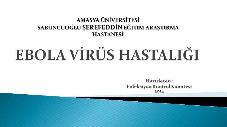 Hazırlayan : Enfeksiyon Kontrol Komitesi 2014 AMASYA ÜNİVERSİTESİ SABUNCUOĞLU ŞEREFEDDİN EĞİTİM ARAŞTIRMA HASTANESİ