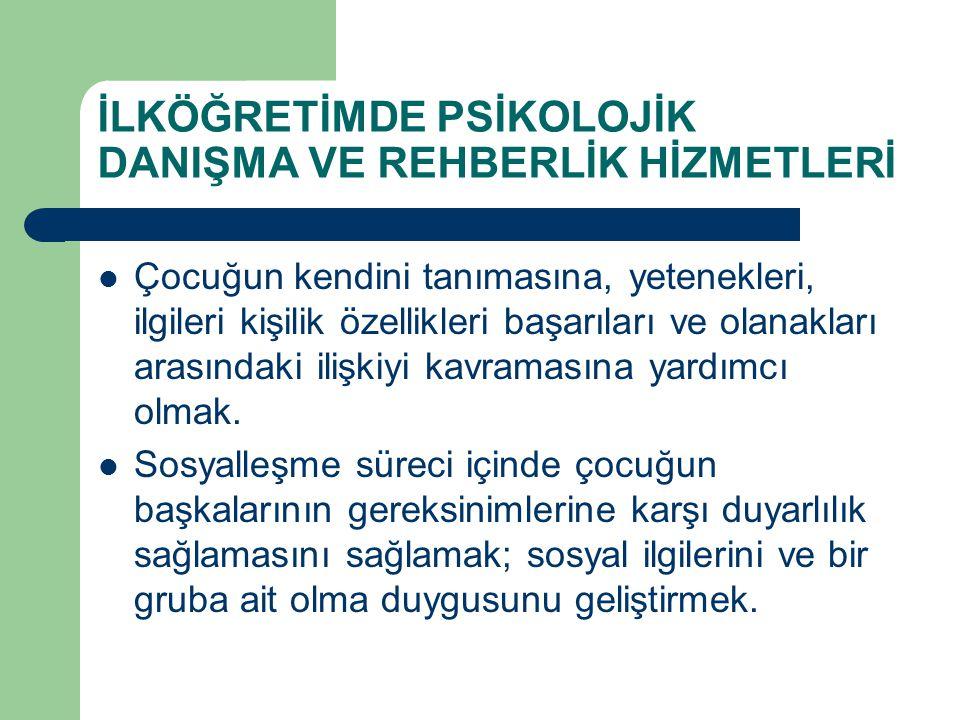 REHBERLİK HİZMET ALANLARI 7.