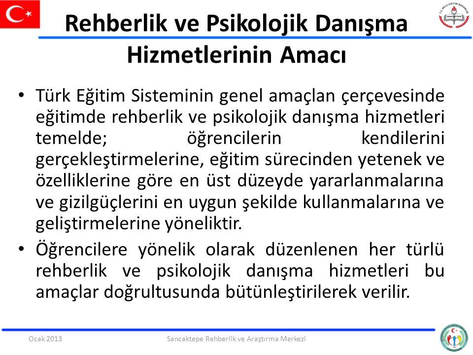 Rehberlik ve Psikolojik Danışma Hizmetlerinin Amacı Türk Eğitim Sisteminin genel amaçlan çerçevesinde eğitimde rehberlik ve psikolojik danışma hizmetl