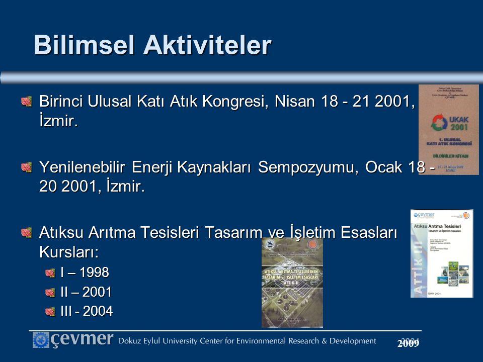 Birinci Ulusal Katı Atık Kongresi, Nisan 18 - 21 2001, İzmir.