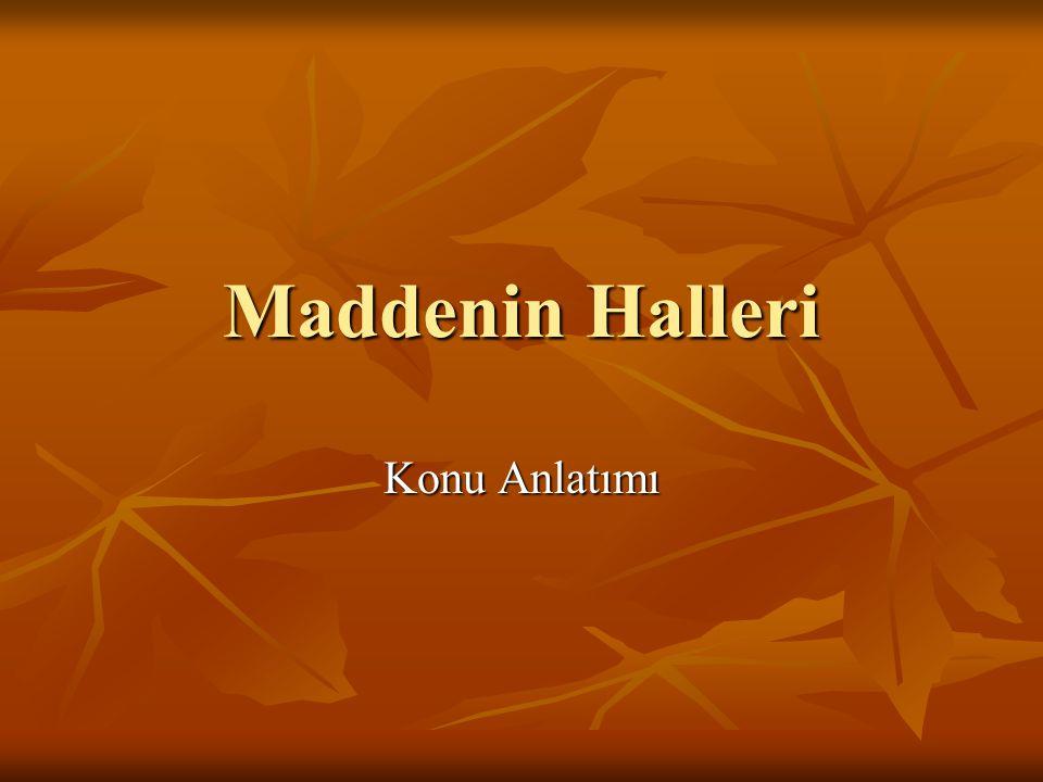 Maddenin Halleri Konu Anlatımı
