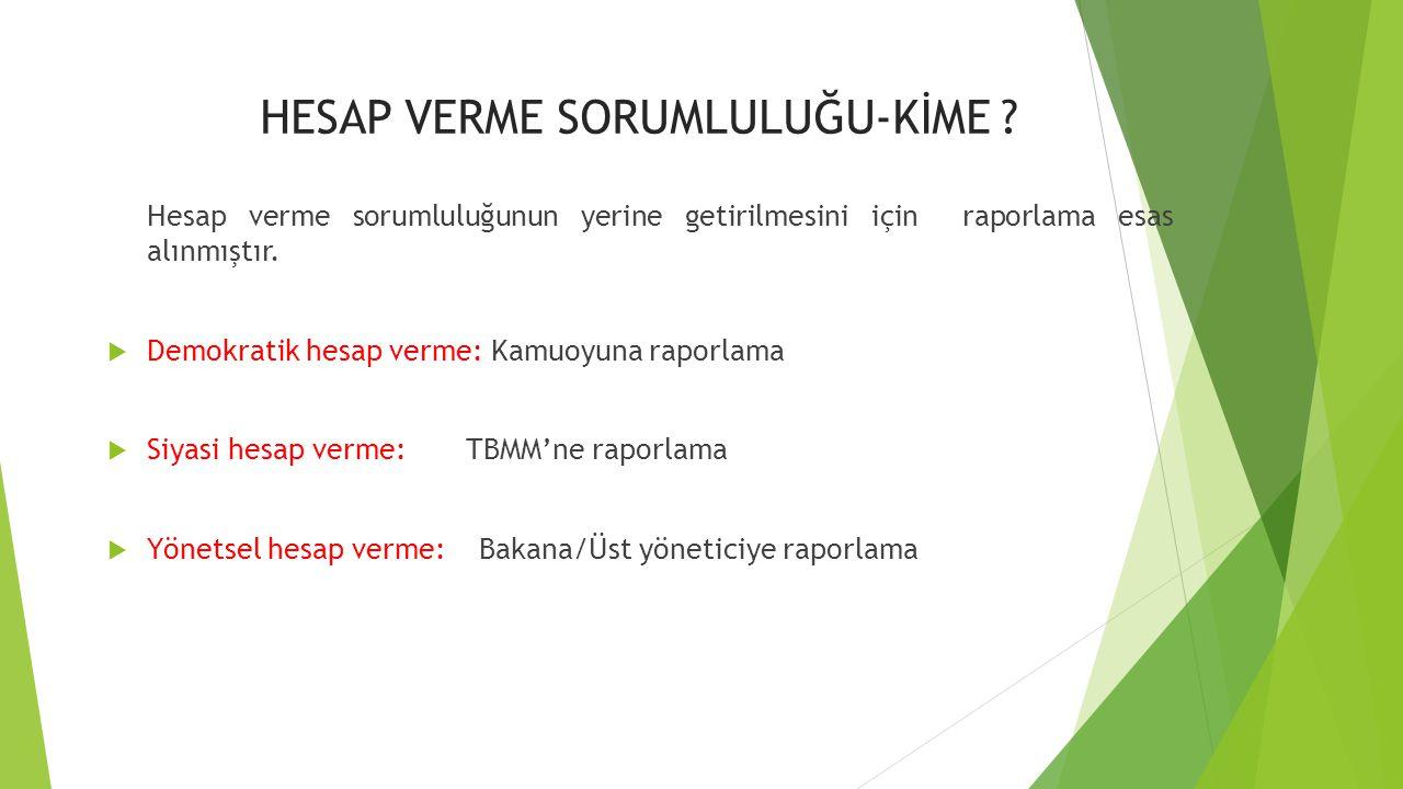 HESAP VERME SORUMLULUĞU-KİME .