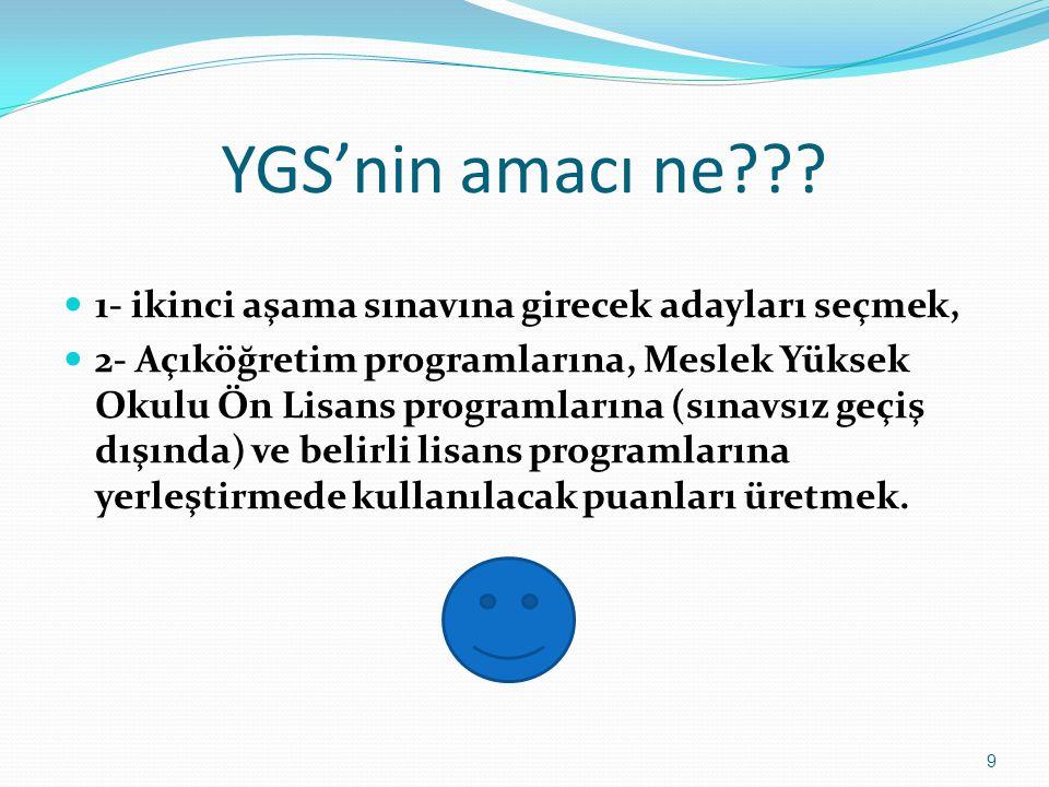 YGS'nin amacı ne .