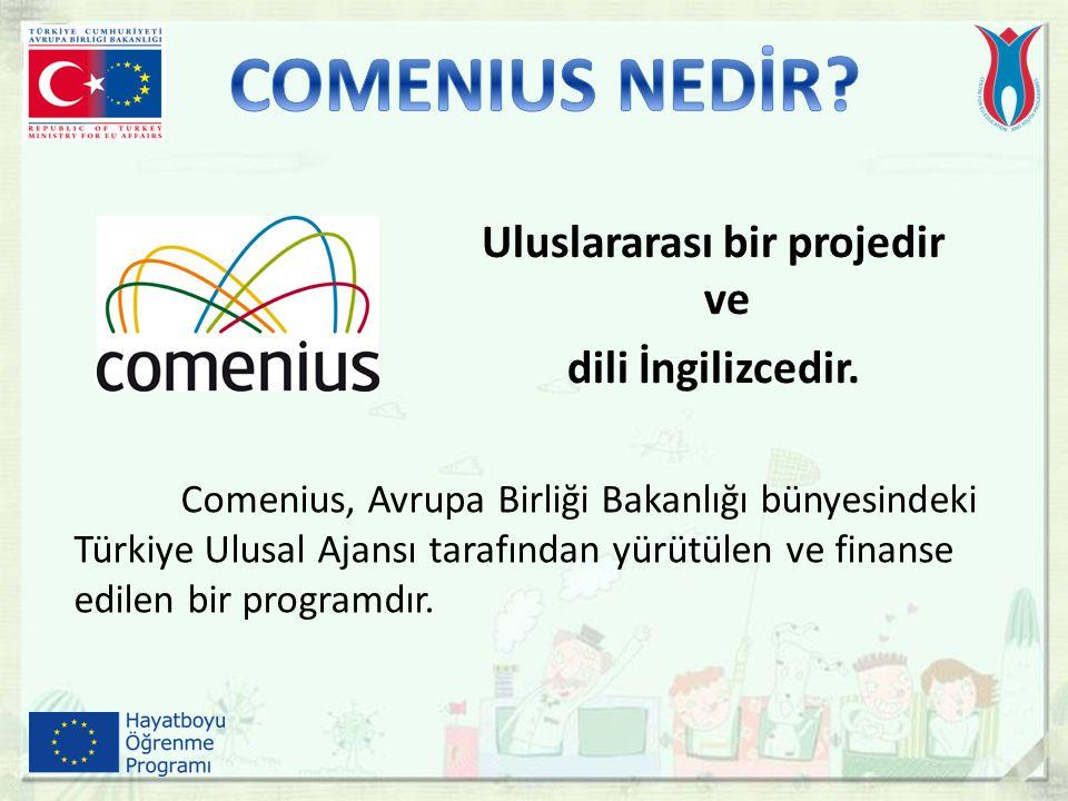 Comenius, Avrupa Birliği Bakanlığı bünyesindeki Türkiye Ulusal Ajansı tarafından yürütülen ve finanse edilen bir programdır. Uluslararası bir projedir