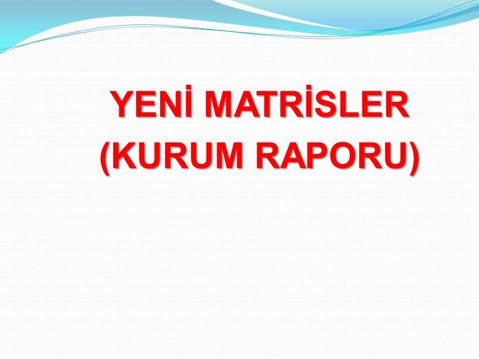 YENİ MATRİSLER (KURUM RAPORU)
