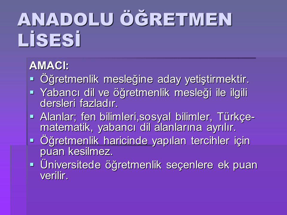  Karatay Tes-İş Sendikası Atatürk Anadolu Öğretmen Lisesi  2012 taban puanı;462.984.dir.