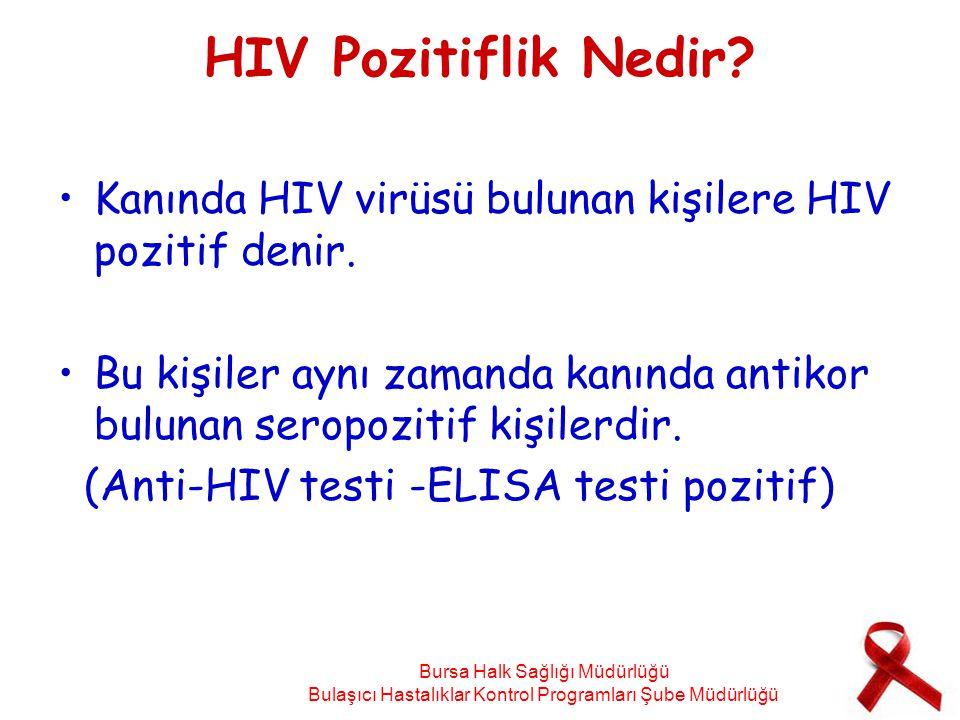 HIV Pozitiflik Nedir? Kanında HIV virüsü bulunan kişilere HIV pozitif denir. Bu kişiler aynı zamanda kanında antikor bulunan seropozitif kişilerdir. (