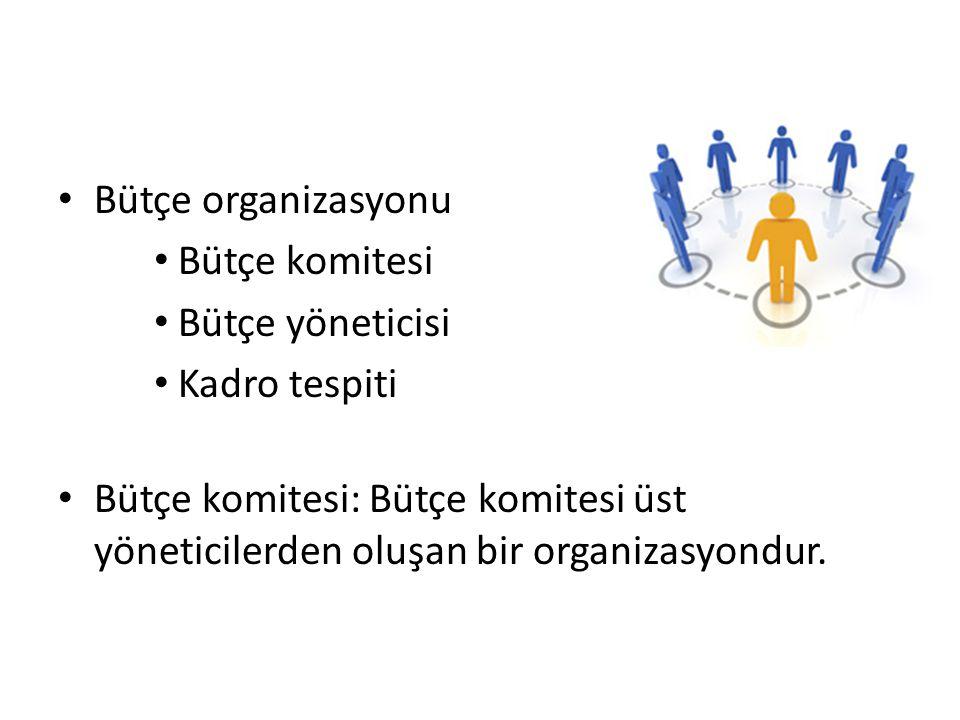 Bütçe komitesi Genel müdür,genel müdür yardımcısı,bütçe müdürü ve fonksiyonel müdürler.