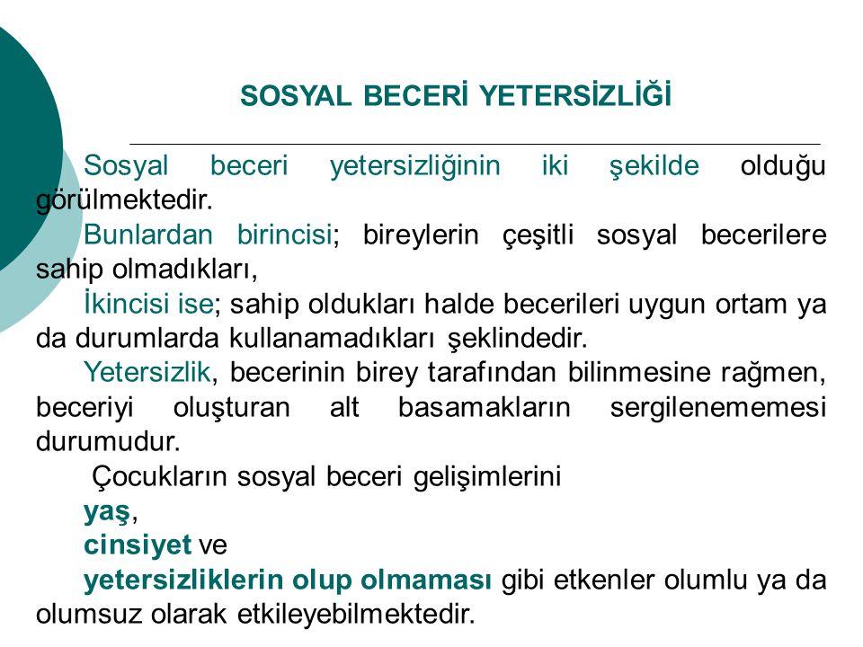 Sosyal beceriler öğretiminde aşağıda yer alan farklı yöntemler kullanılmaktadır.