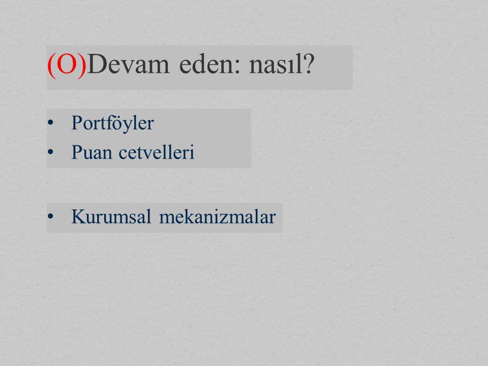 (O)Devam eden: nasıl Portföyler Puan cetvelleri Kurumsal mekanizmalar