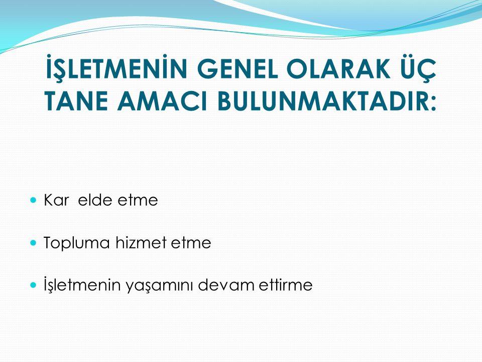 ÜÇÜNCÜ BÖLÜM Yönetim ve Örgüt Yönetim MADDE 10.