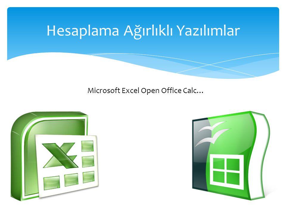 Hesaplama Ağırlıklı Yazılımlar Microsoft Excel Open Office Calc…