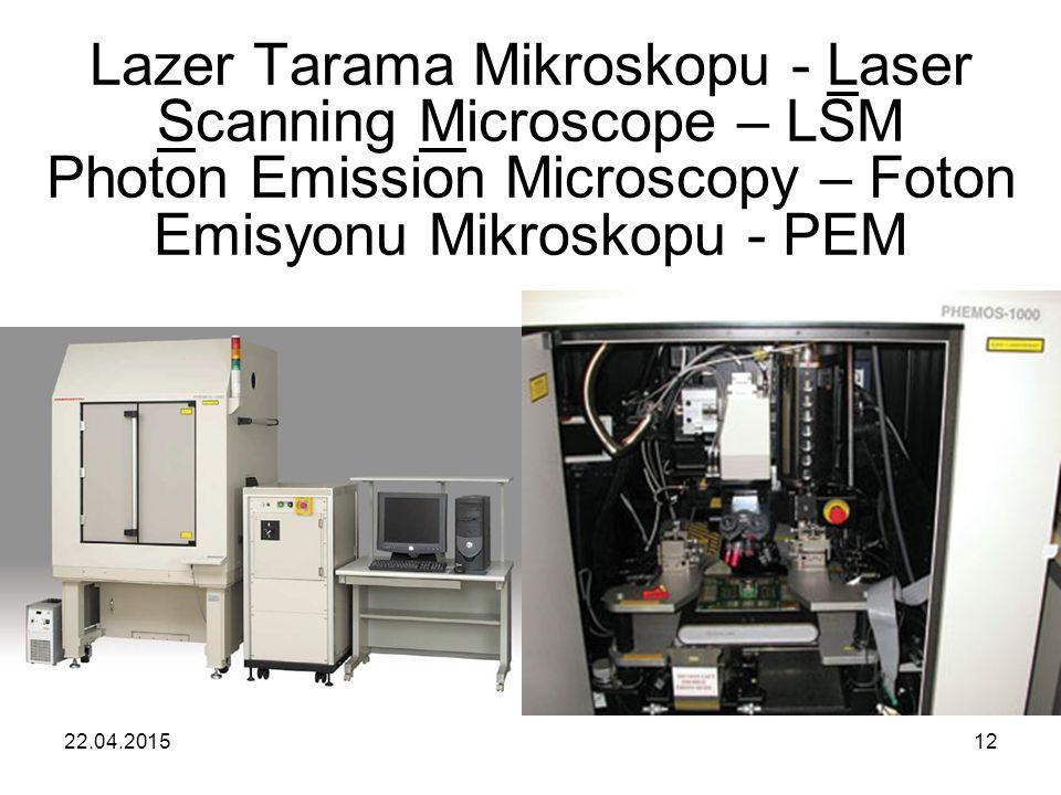22.04.201512 Lazer Tarama Mikroskopu - Laser Scanning Microscope – LSM Photon Emission Microscopy – Foton Emisyonu Mikroskopu - PEM