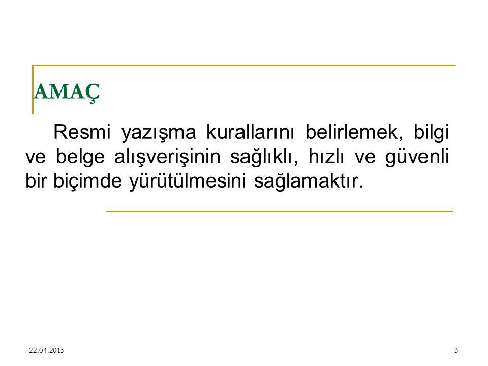 Haberleşme Kodu Sayı: B.10.4.İSM.4.34.59.21- B.10.4.İSM.4.34.59-21 B :Yasama Yürütme 10: Sağlık Bakanlığının sıralamadaki yeri 4 : Kurum dağıtım kodu İSM: İstanbul İl Sağlık Müdürlüğü 4: Birim dağıtım kodu 34: İstanbul şube kodu 59 : Sağlık Müdürlüğünün birim kodu 21 : Göztepe Eğitim ve Araştırma Hastanesi kodu 22.04.201514 Vatandaşlar için tanımlanan Nüfus Cüzdanlarındaki Kütük Numaralarına benzetilebilir.