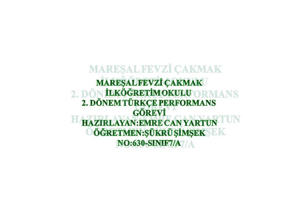 SORU:4 Aşağıdaki altı çizili ikilemelerinden hangisi farklı bir görevde kullanılmıştır.