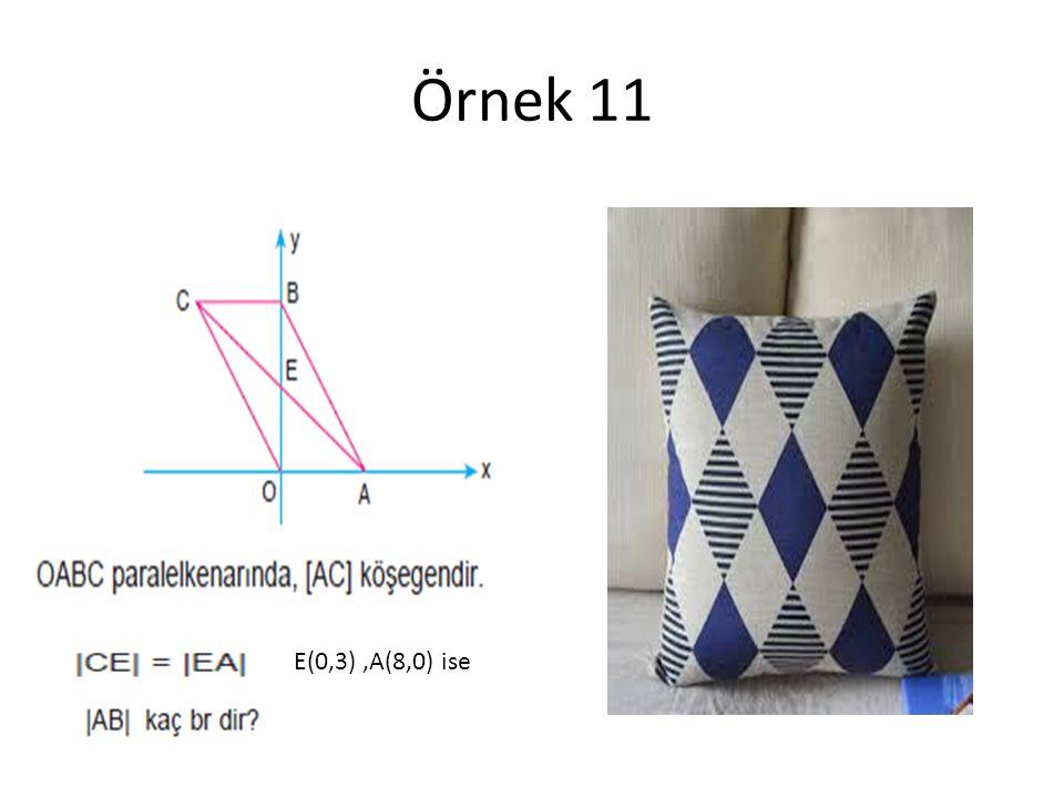 Örnek 11 E(0,3),A(8,0) ise